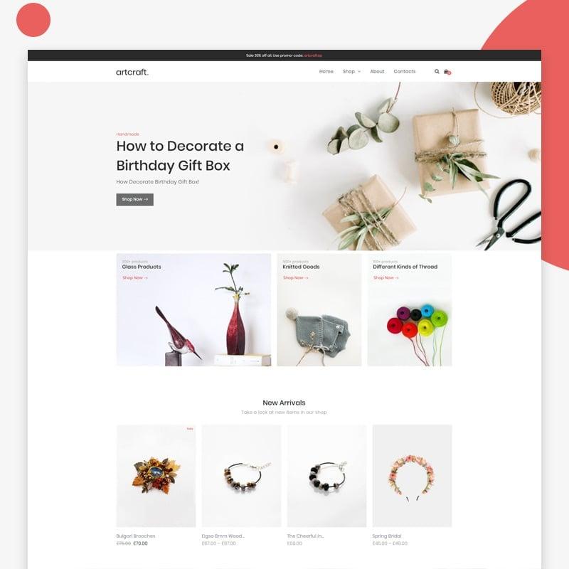 Handmade eCommerce Clean Elementor WooCommerce Theme