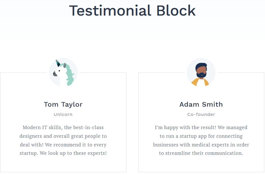 getwid testimonials block