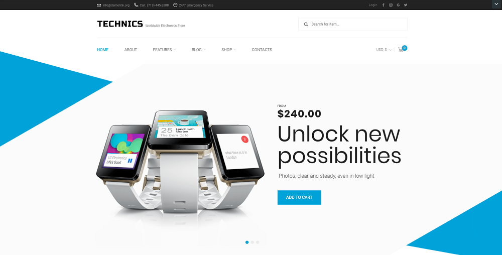 Technics - Electronics Store WooCommerce Theme