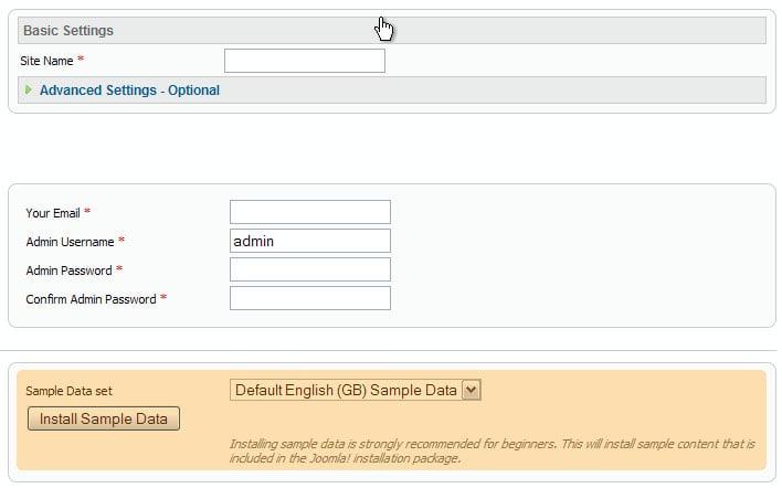 joomla templates with sample data - joomla how to install joomla engine and template to