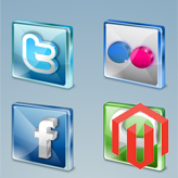 Magento. How to edit social icons block