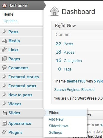 how to edit wordpress templates - wordpress how to change slides order in a slider