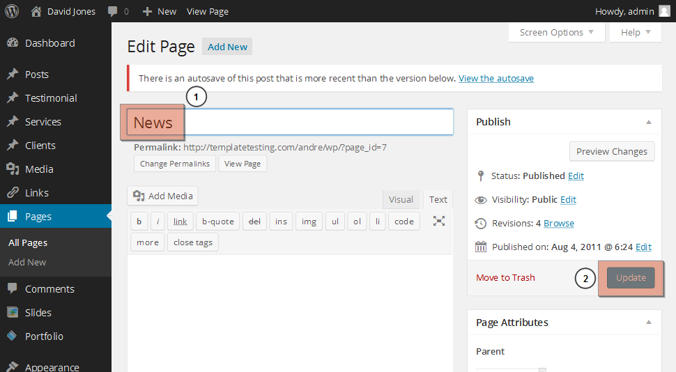 WordPress. How to change blog page title (non-Cherry based ...