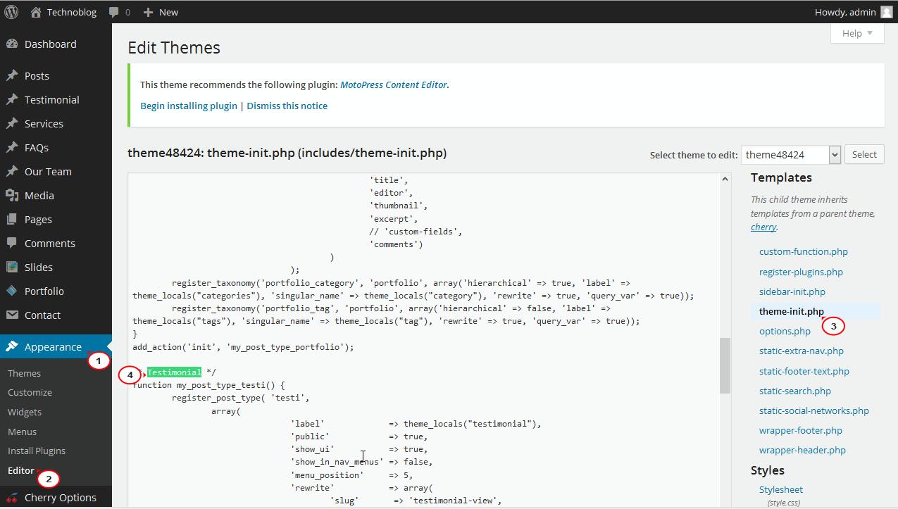 Wordpress Changing The Order Of Admin Menu Items