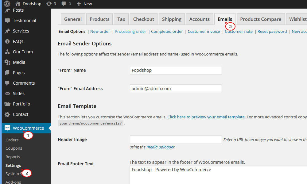 Woocommerce. How To Enable Order Confirmation Emails - Template