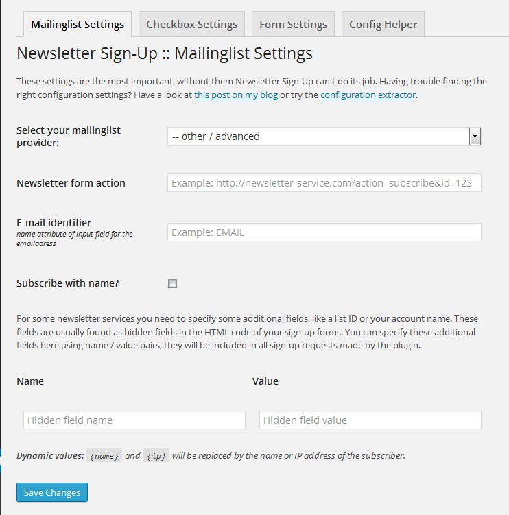 how to add newsletter on wordpress
