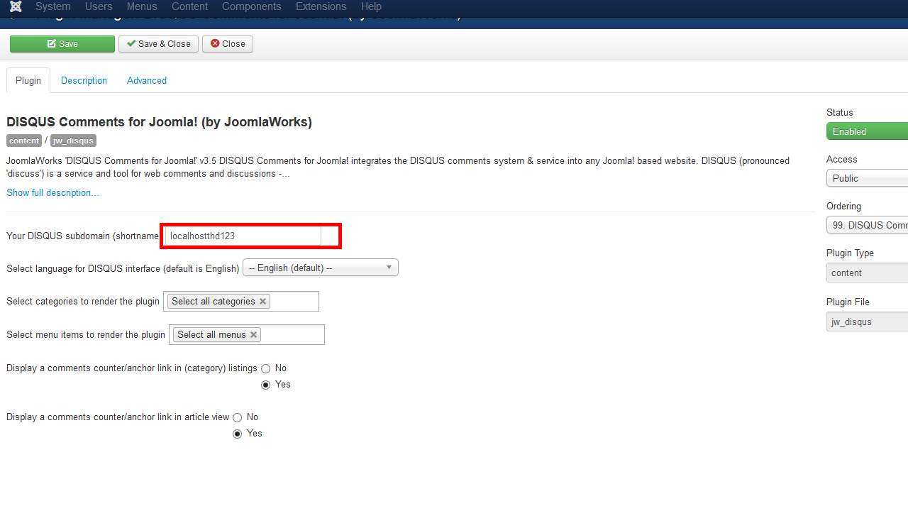 Joomla3xhowtomanagedisqusextension Joomla 3x Troubleshooter How To