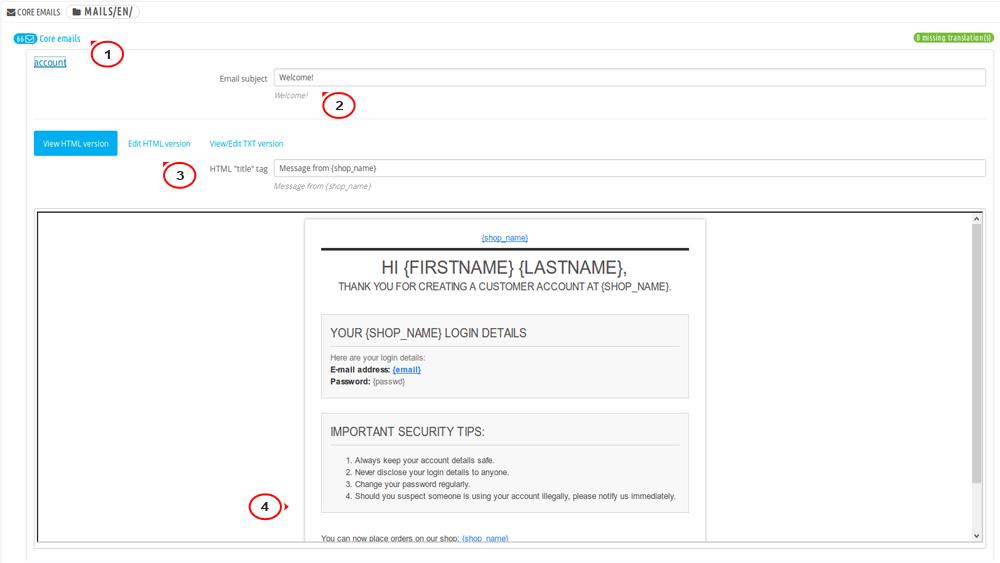 prestashop edit translation file manually