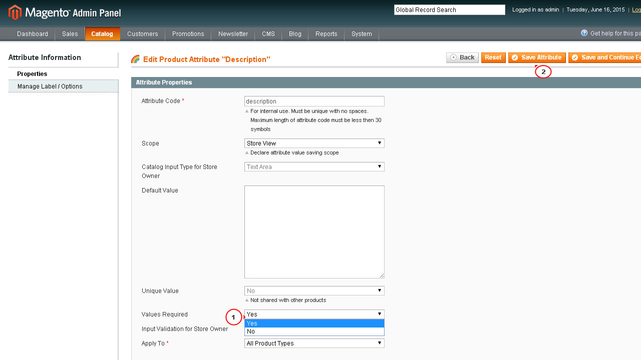 Magento How to make the product description field not required – Product Description Template