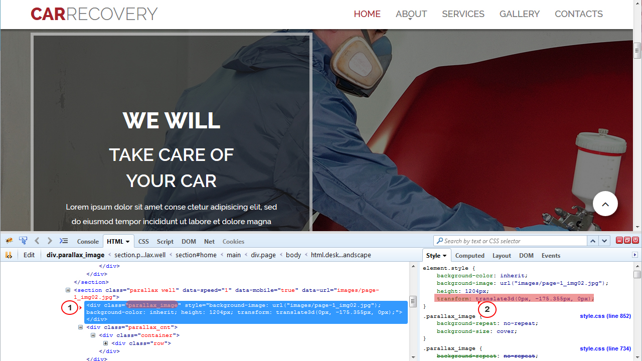 Usando o background image no css - How To Remove Scrolling Effect Of Rd Parallax