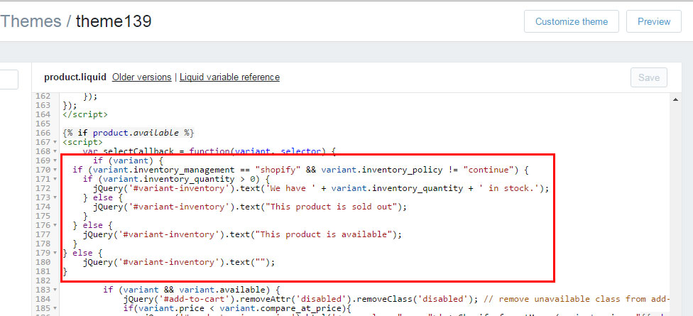 Shopify. How to add product quantities to the products ...