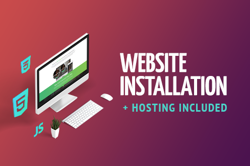 Installation + Hosting service by TemplateTuning