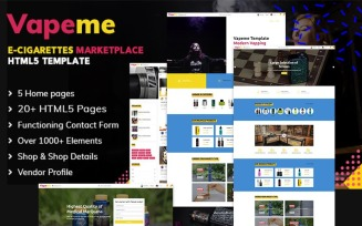 Vapeme | Vape Shop HTML5 Website Template
