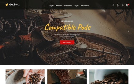 o`Joe Aroma - Coffee Online Shop Template PrestaShop Theme