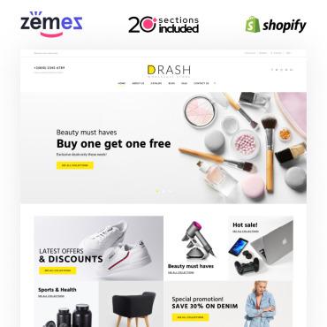 Купить  пофессиональные Shopify шаблоны. Купить шаблон #100097 и создать сайт.
