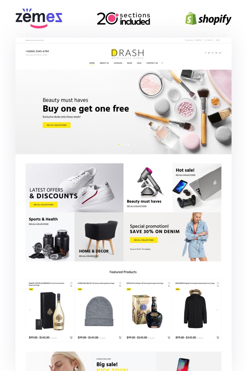 """Drash - Shopify Wholesale eCommerce Template"" Responsive Shopify Thema №100097"