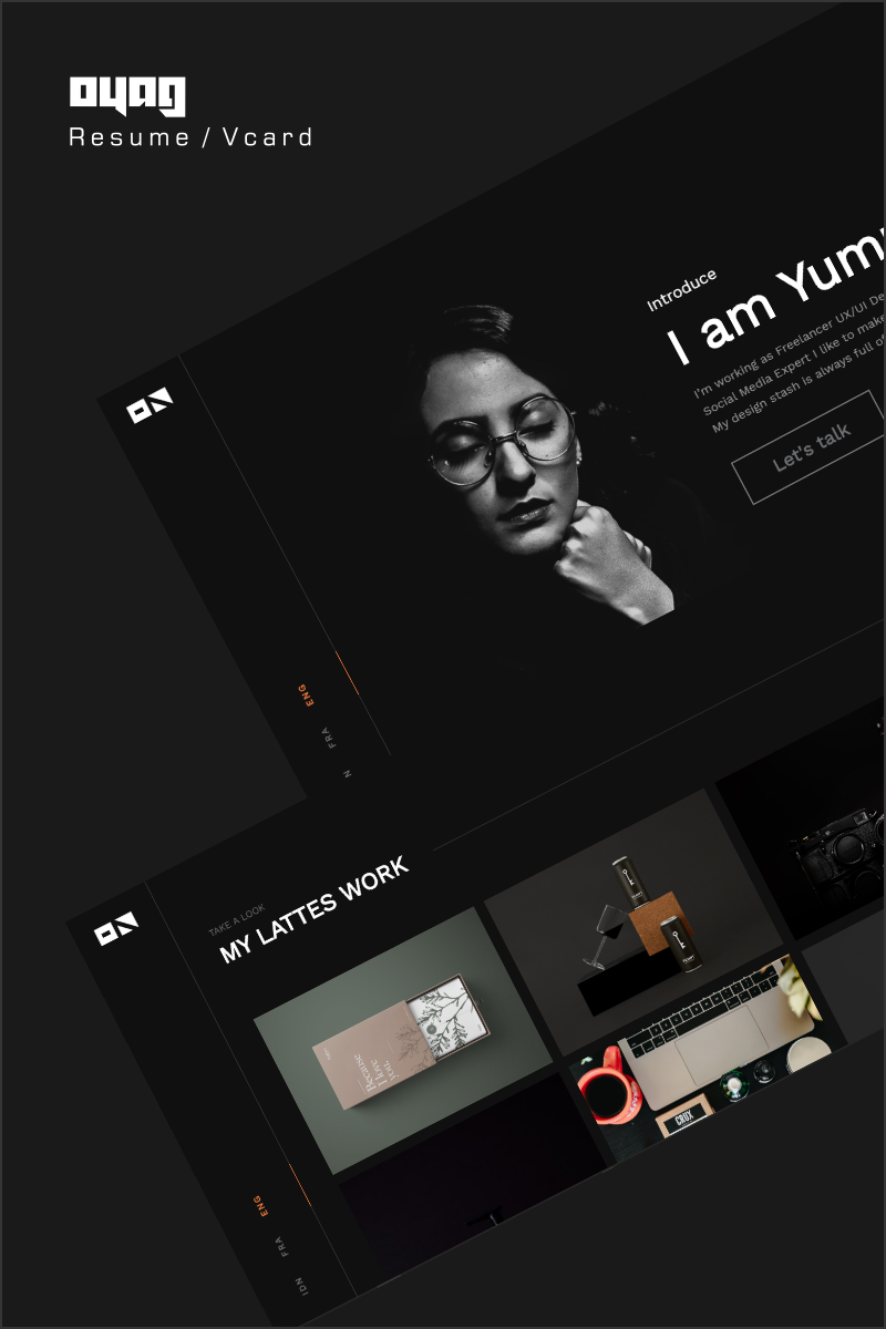 Oyag - Resume / vCard Landing Page Template