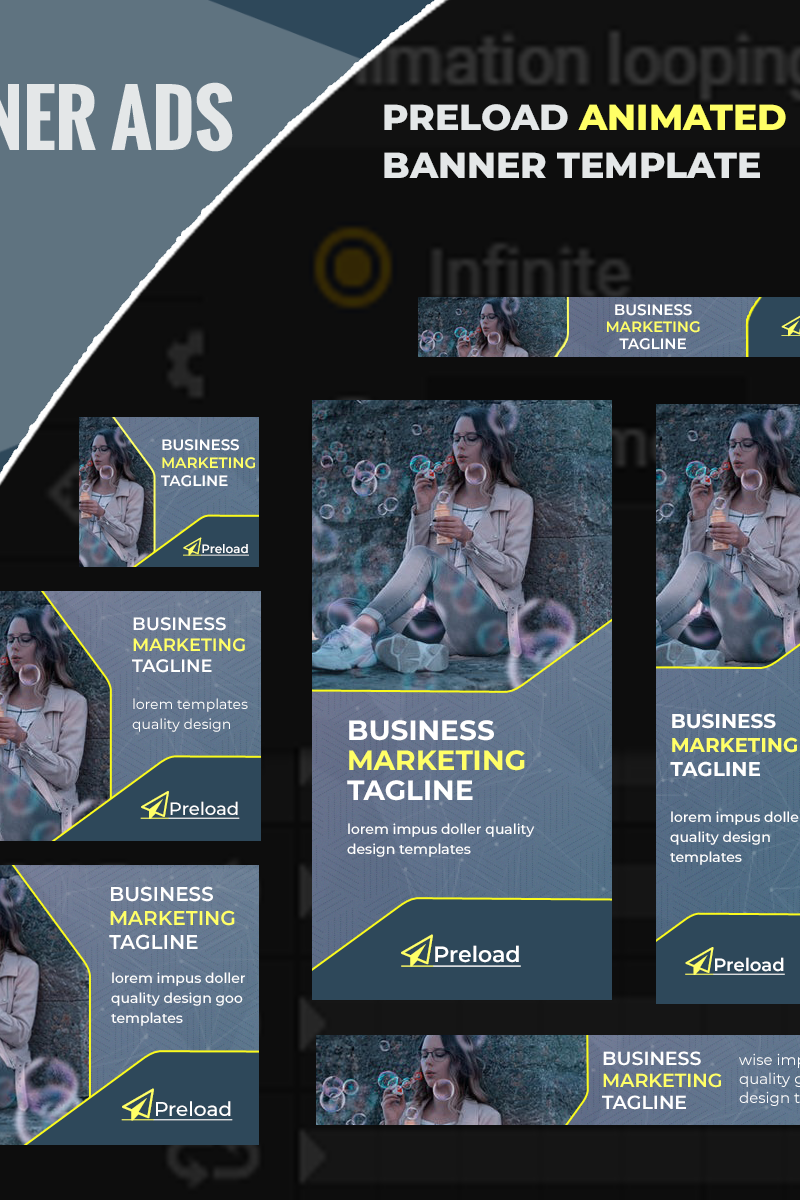 """""""Preload - HTML5 Template"""" Animated Banner №100039"""