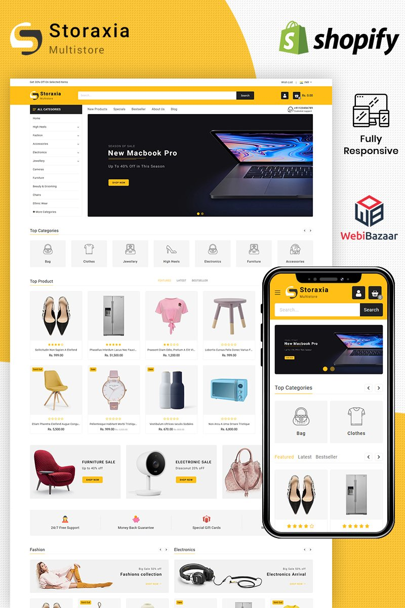 Responsive Storaxia - Multipurpose Shopify #100019