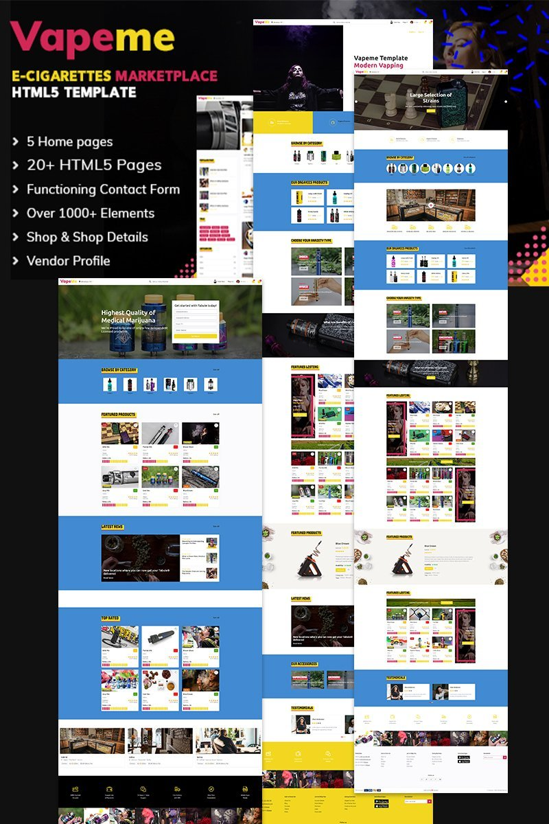Responsive Vapeme | Vape Shop HTML5 Web Sitesi #100022