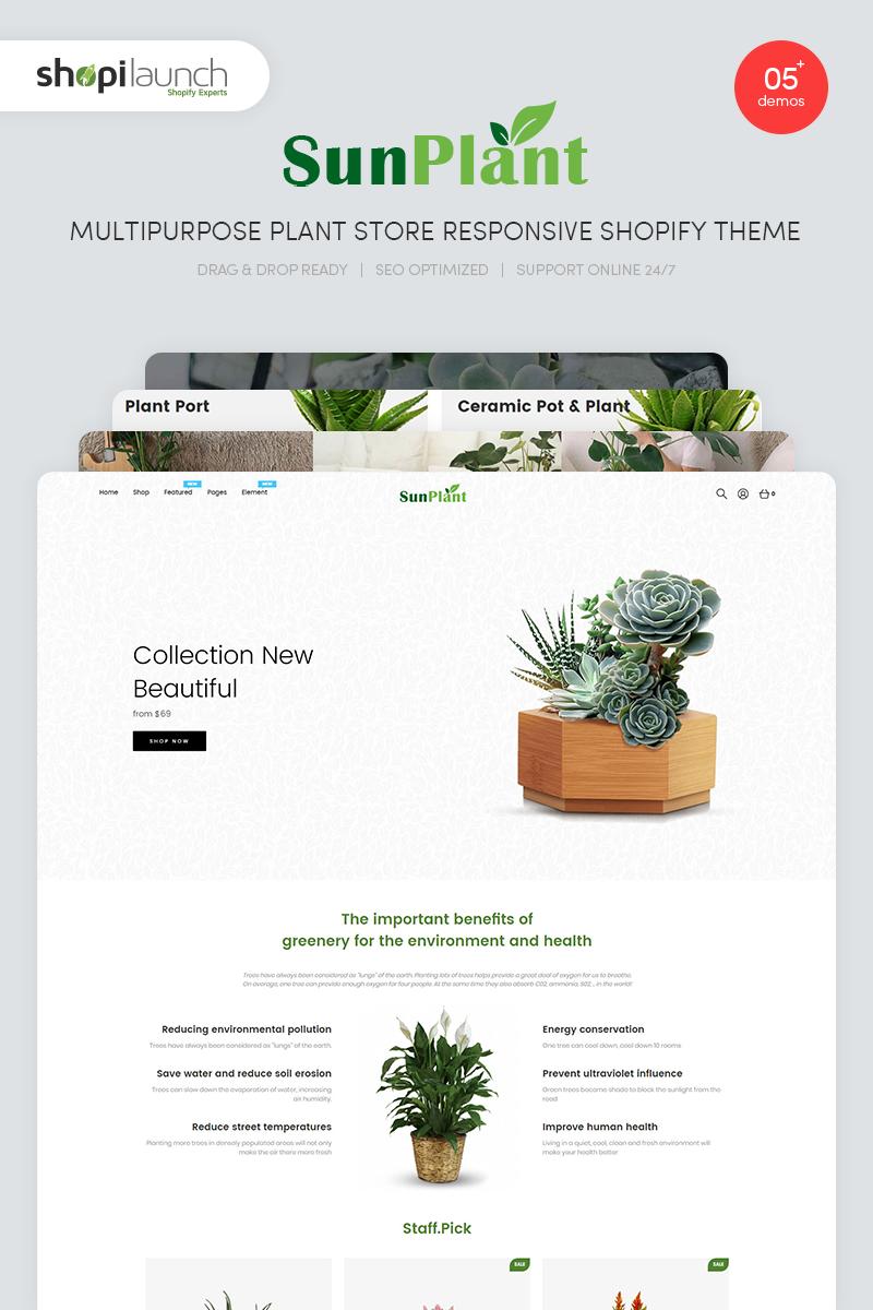 "Tema Shopify ""Sunplant - MultiPurpose Plant Store Responsive"" #100069"