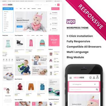 Купить  пофессиональные WooCommerce шаблоны. Купить шаблон #100120 и создать сайт.