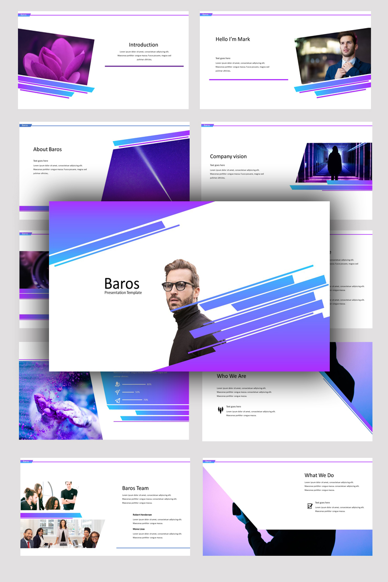 Baros Creative Business PowerPoint Template