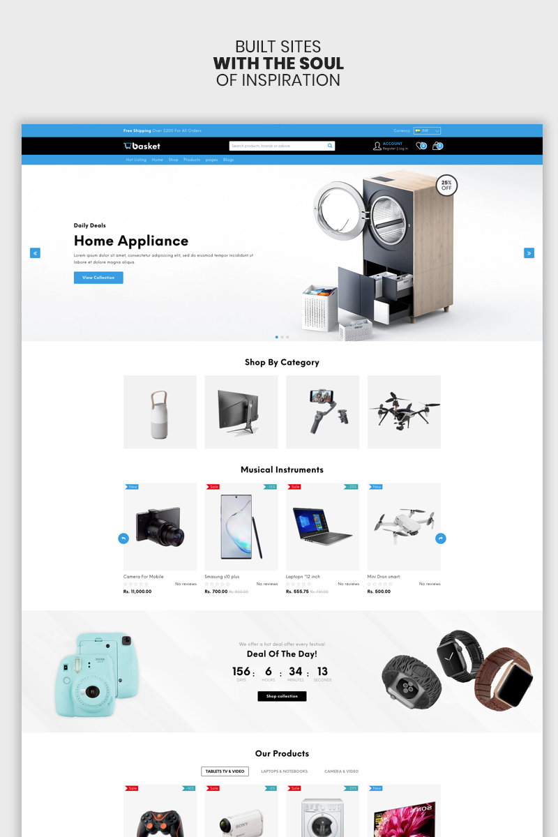 Basket - The Electronics & Supermarket Premium Shopify Theme
