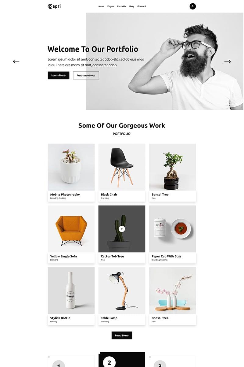 "Plantilla Web ""Papri - Portfolio Creative HTML5 Template"" #100145"