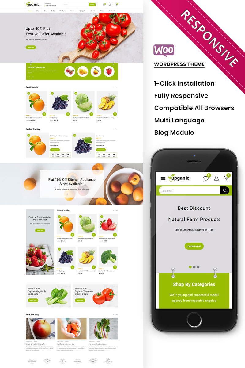 Upganic - The Mega Grocery Store Premium WooCommerce Theme