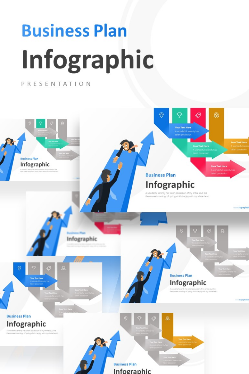 Team Work Business Concept Infographic Presentation PowerPoint Template