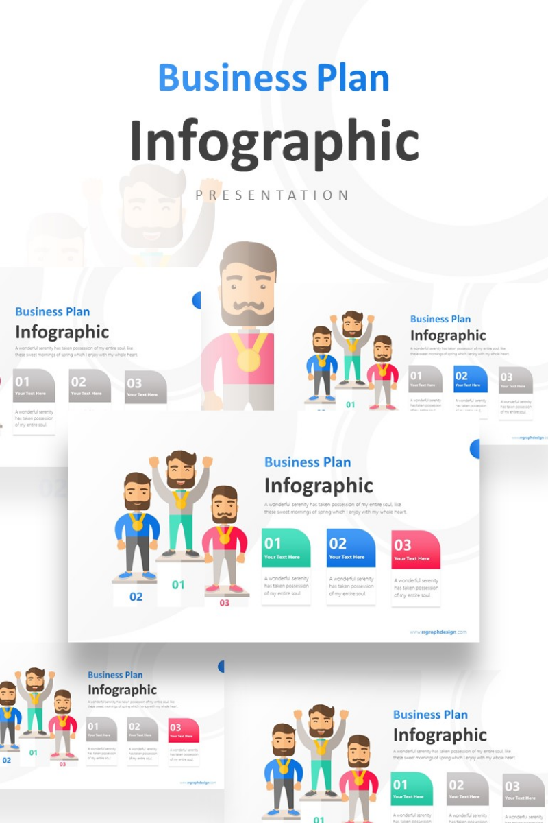 Business Winners Infographic Presentation PowerPoint Template