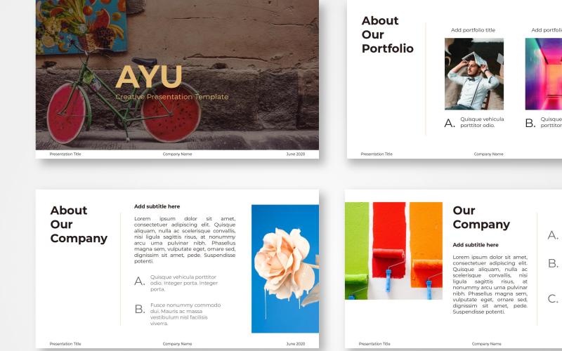 Ayu - Creative Template Google Slides
