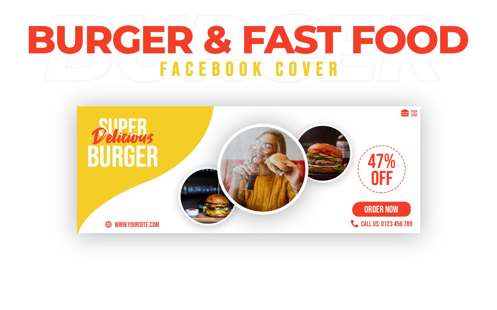 Burger & Fast Food Facebook Cover Social Media