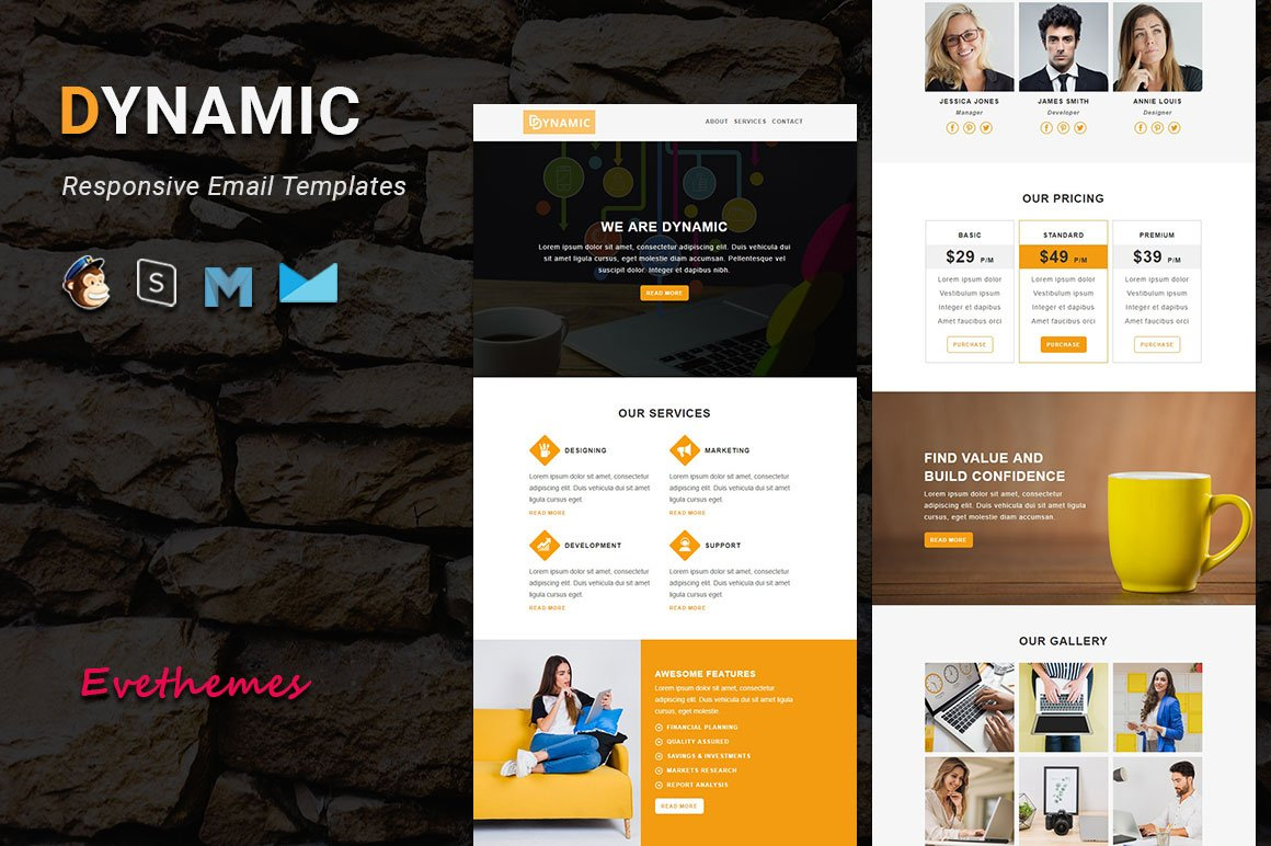 DYNAMIC - Responsive Email Template de Newsletter №100300