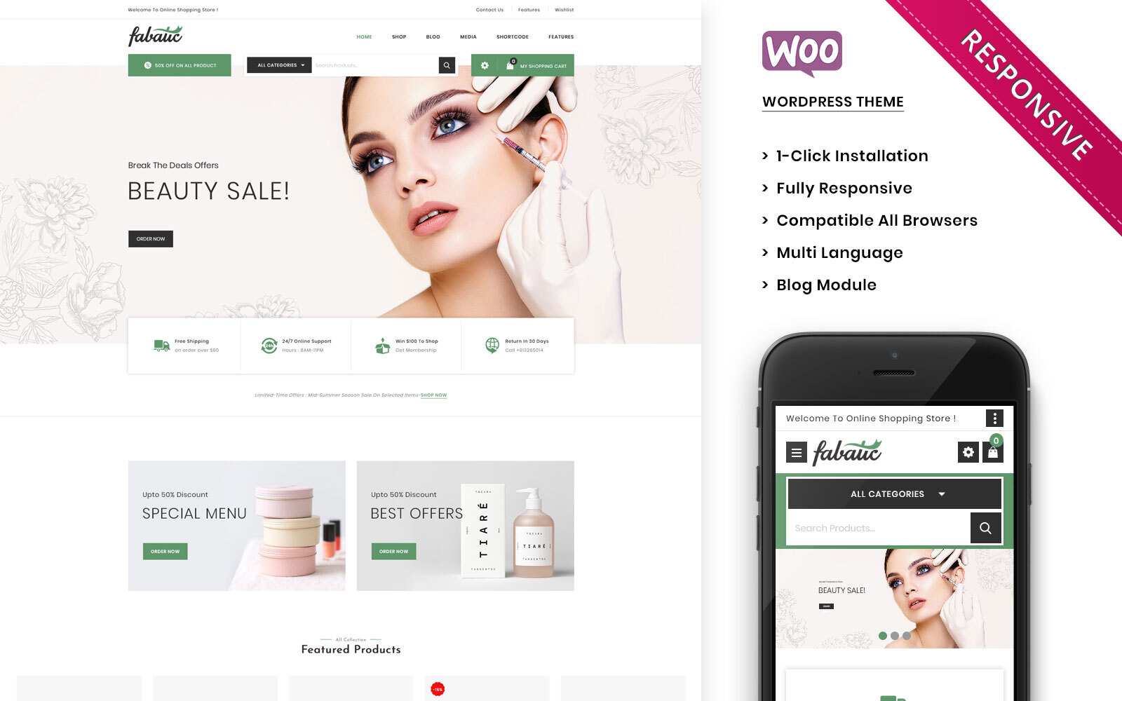 Fabatic - The Premium Cosmetic Store WooCommerce Theme