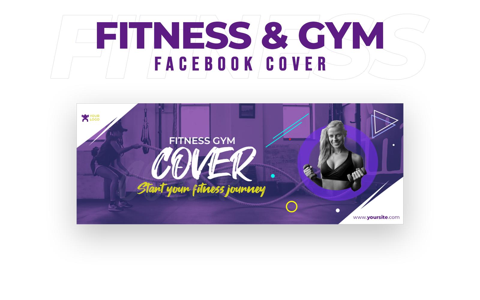 Fitness & Gym Facebook Cover Social Media