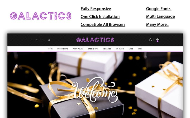 Galactics - Gift Store OpenCart Template