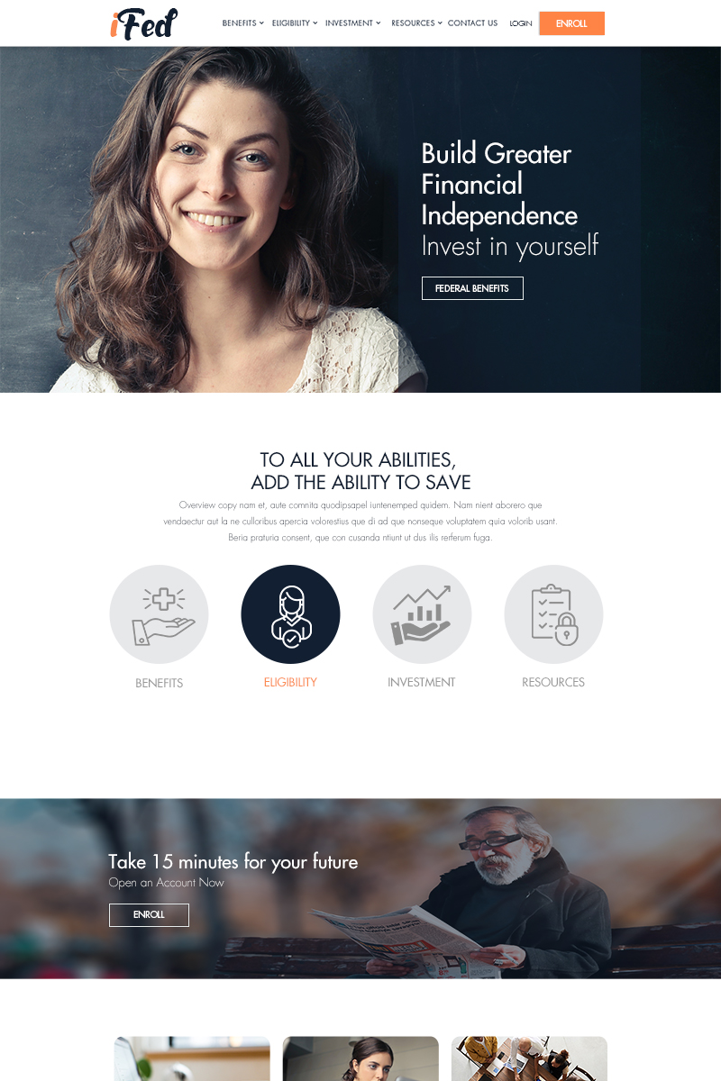 IFed for Business PSD Template