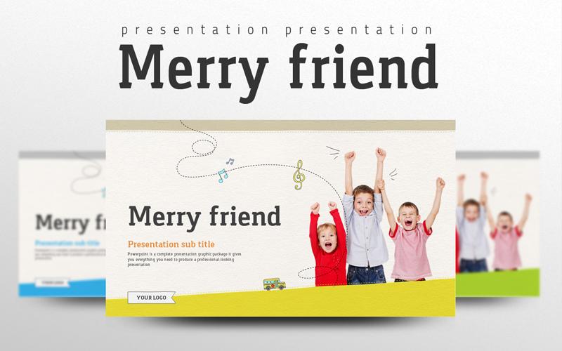 """Plantilla PowerPoint """"Merry Friend"""" #100385"""