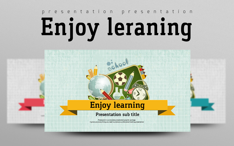 "PowerPoint Vorlage namens ""Enjoy Learning"" #100381"