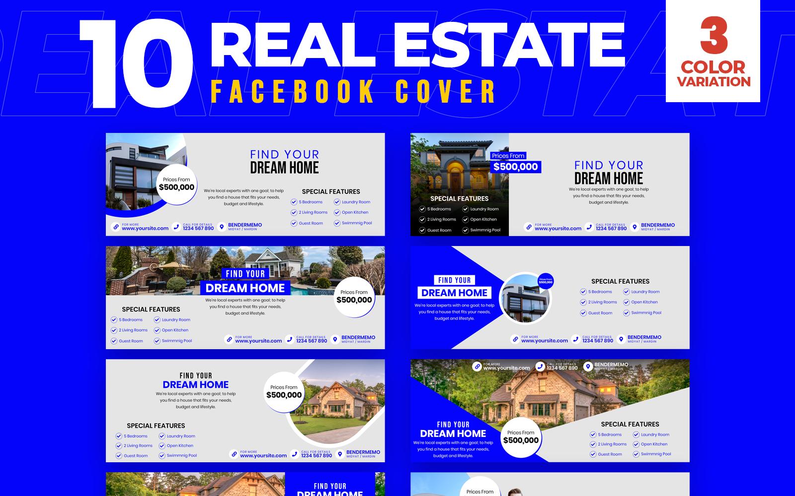 Real Estate 10 Facebook Cover Social Media
