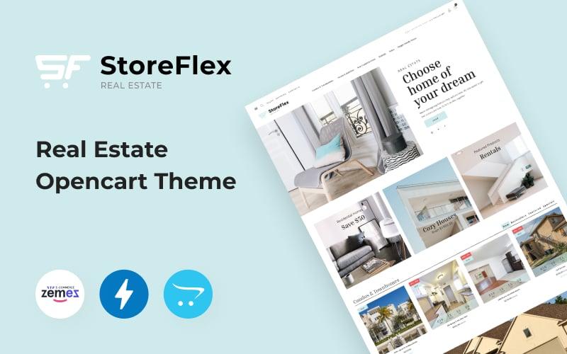 Responsywny szablon OpenCart Storeflex Real Estate Theme #100371