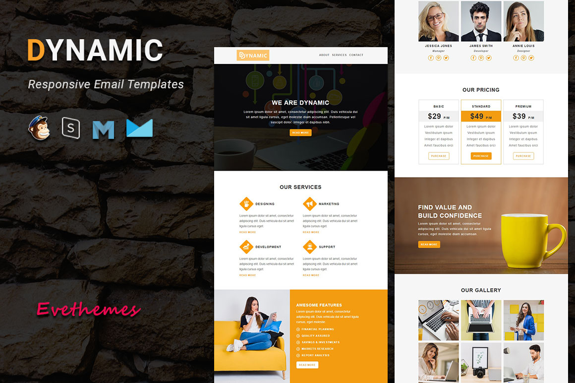 "Template di Newsletter #100300 ""DYNAMIC - Responsive Email"""