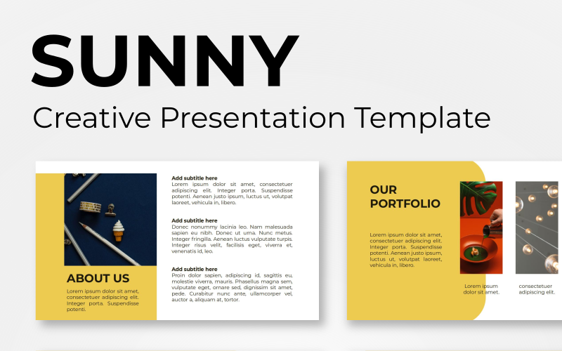 Sunny - Creative PowerPoint Template