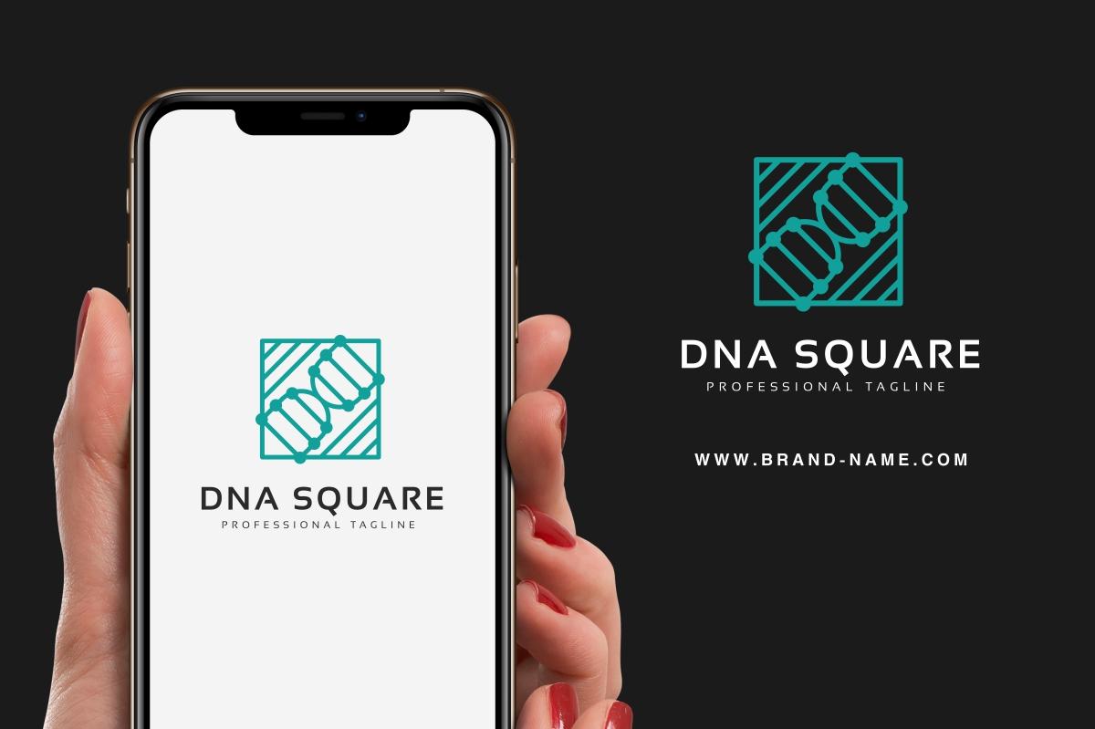 """DNA Square"" Logo template №100429"