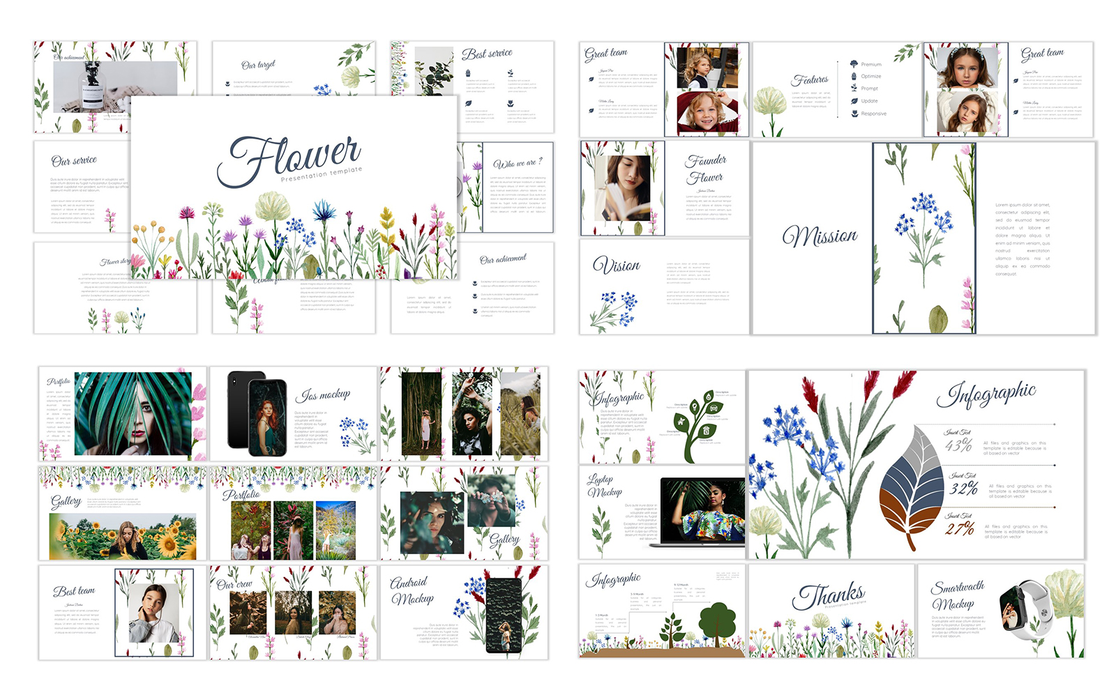 Flower Keynote Template
