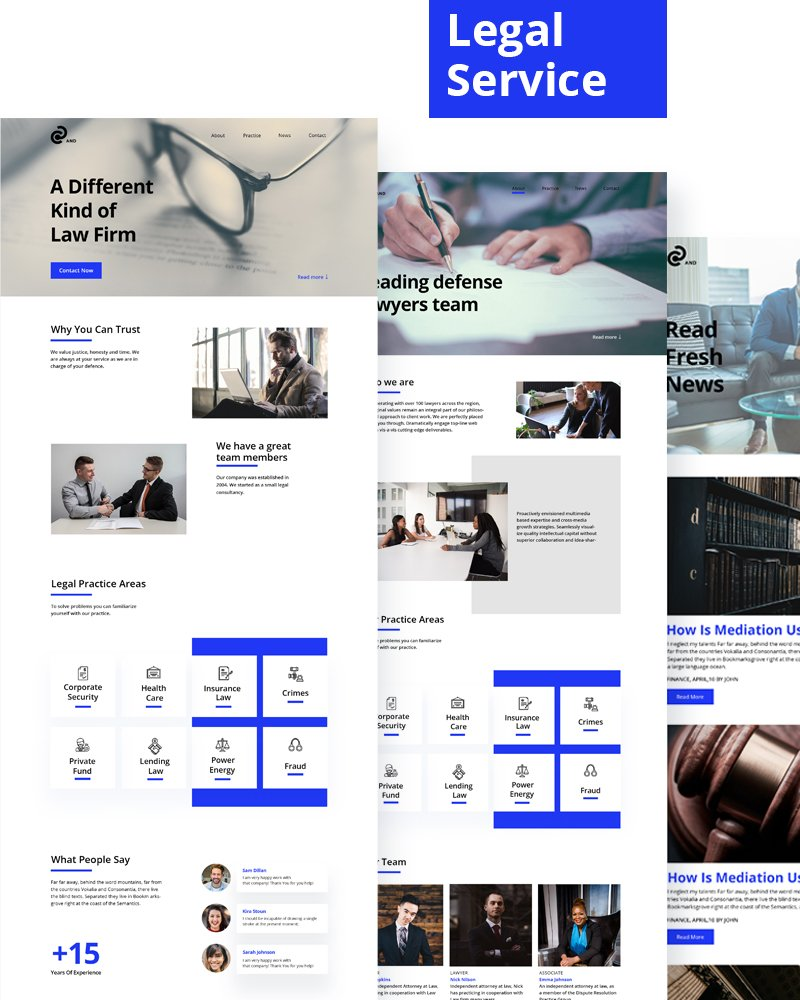 Legal Services Website PSD Template