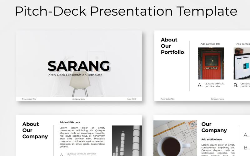 """PowerPoint Vorlage namens """"Sarang - Pitch-Deck"""" #100422"""