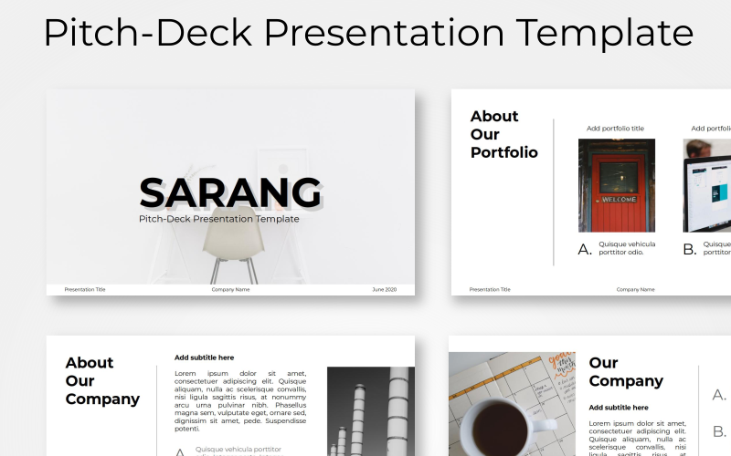Sarang - Pitch-Deck PowerPoint Template